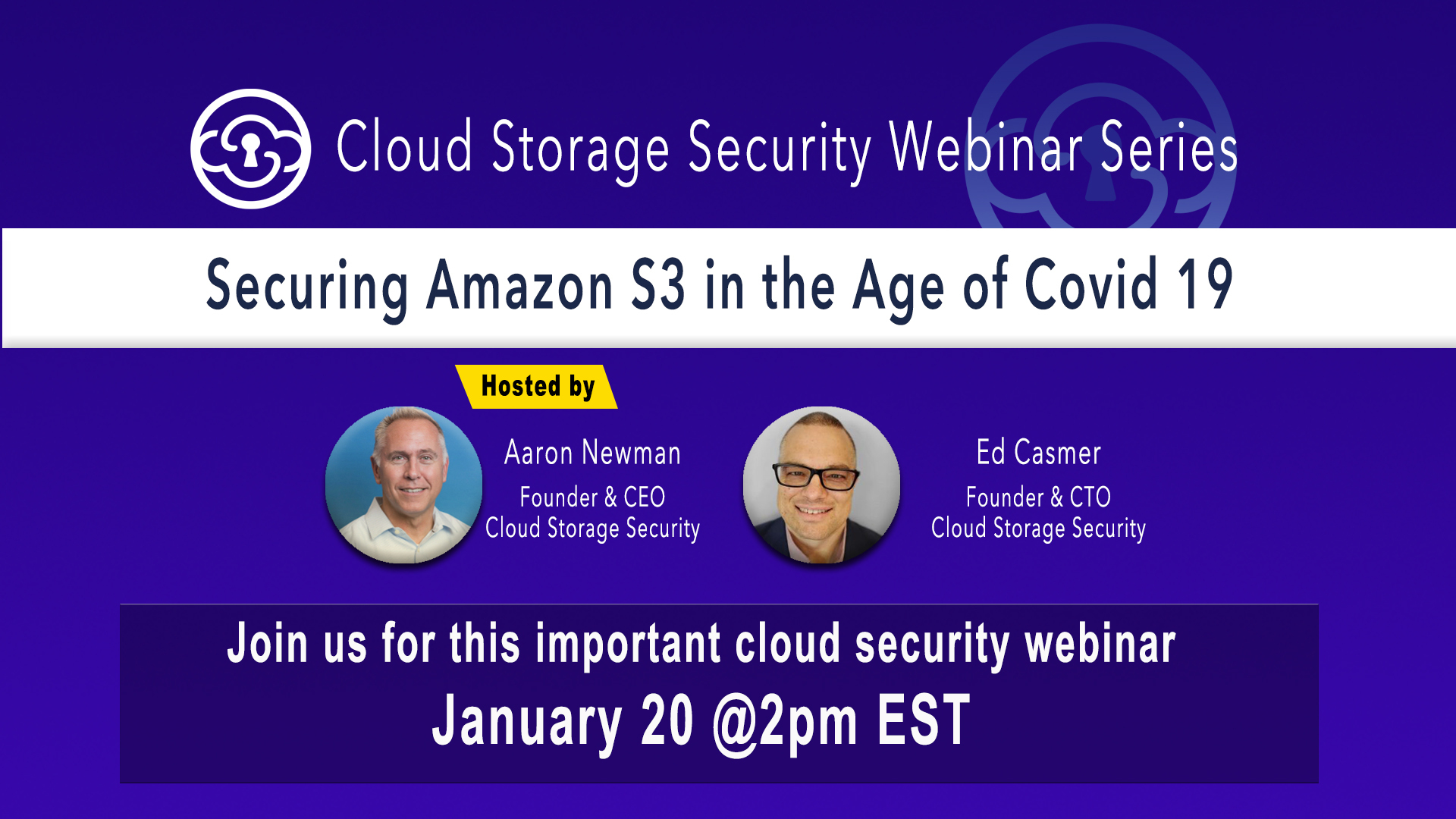 CSS Webinar - Securing Amazon S3 in the Age of Covid 19