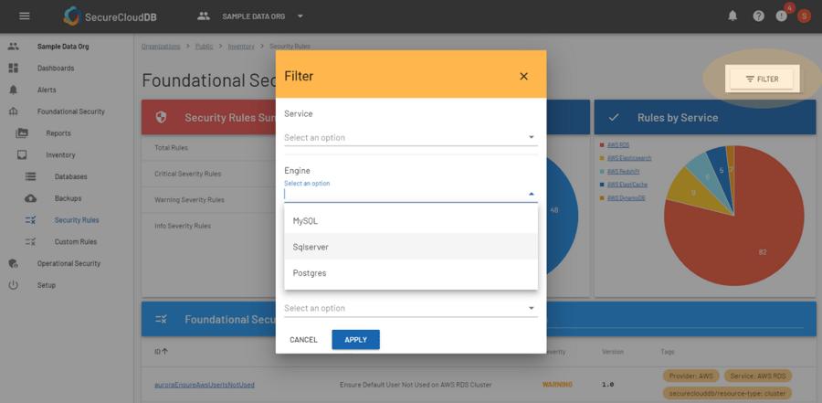 SCDB - User Assessment Report SQL Server Filter
