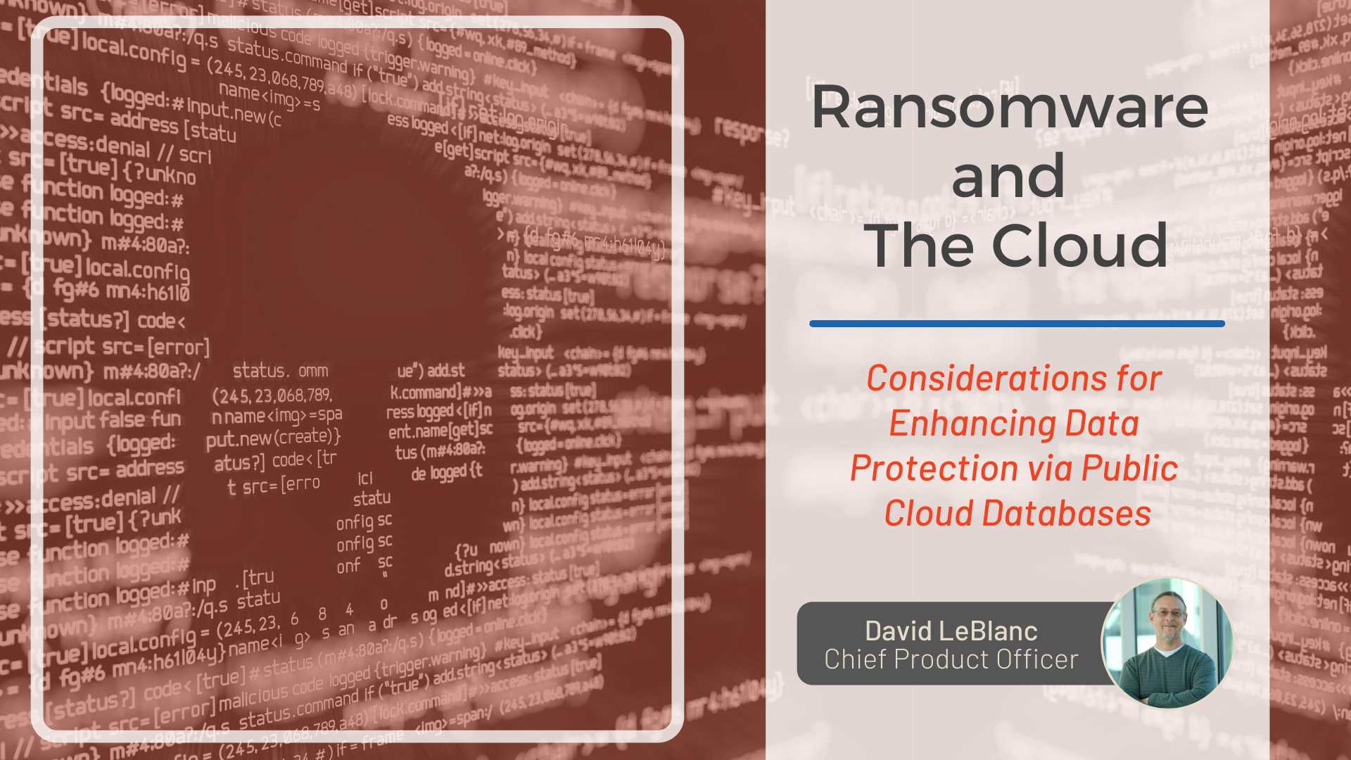 Ransomware and The Cloud