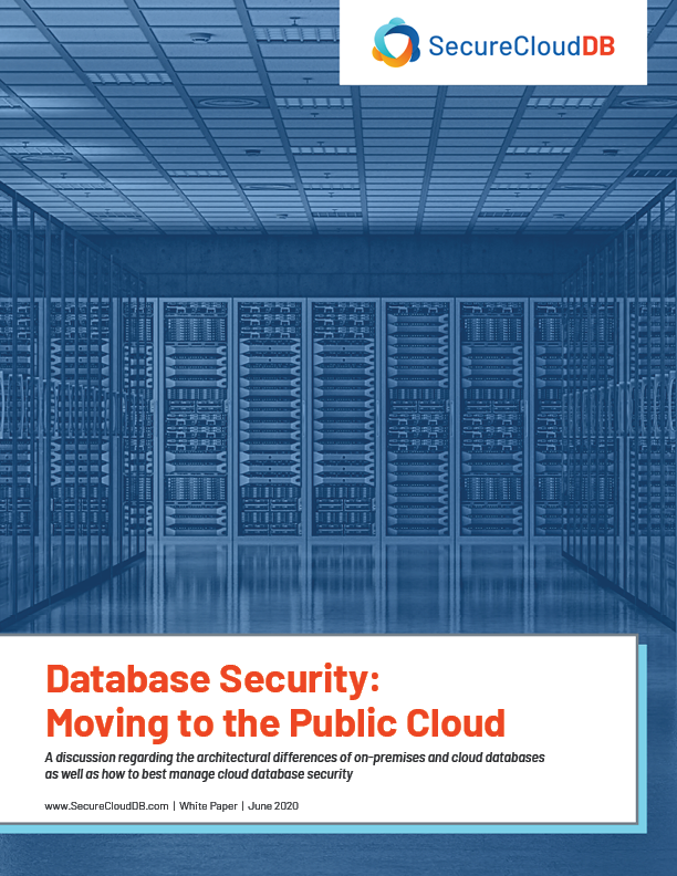 SCDB White Paper - Database Security Moving to the Cloud Coverpage