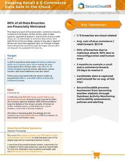 SecureCloudDB - Keeping Retail & E-Commerce Data Safe in the Cloud 2103A