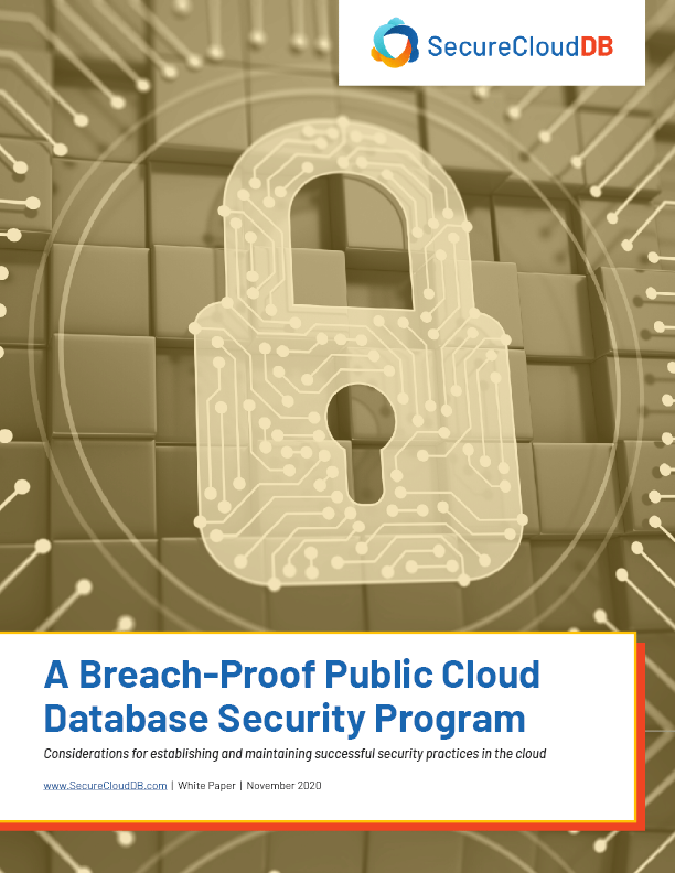 SCDB White Paper - A Breach-Proof Public Cloud Database Security Program Coverpage